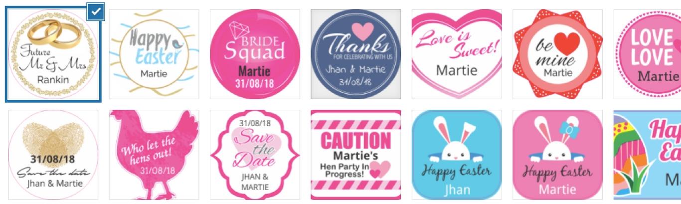 Custom Sticker and Label Templates